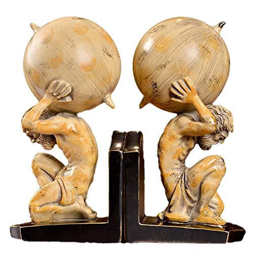 FayooChristmasmodel Bookends, Tierra Bookends artesanías Decorativas carácter Escultura Oficina Resina Bookends Home...