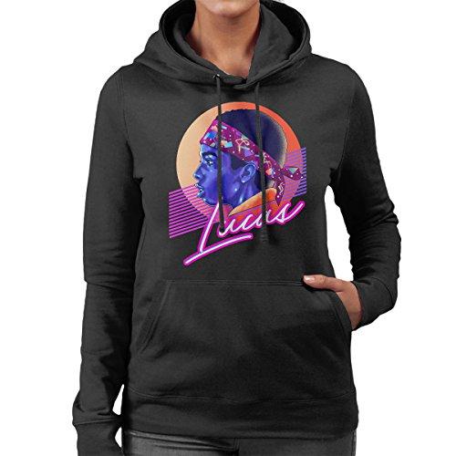 Lucas Montage Stranger Things Women's Hooded Sweatshirt Black
