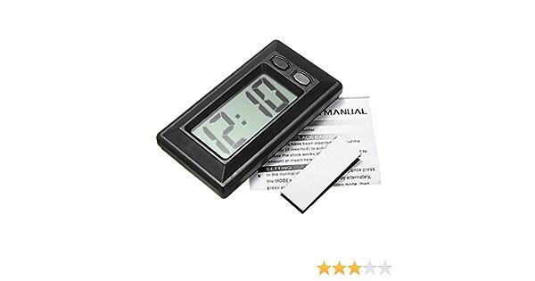 Lcd Digitaluhr Für Den Schreibtisch Datum Uhrzeit Ultradünn Auto Armaturenbrett Digitaler Kalender Uhr Für Auto Und Motorrad Zubehör Küche Haushalt