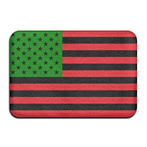 deyhfef Soft Non-Slip African American Flag - Red Black and Green Bath Mat Coral Fleece Area Rug Door Mat Entrance Rug Floor Mats (Gnome Dodger)