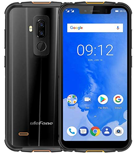 ULEFONE ARMOR 5 - 5.85 inch HD + (19: 9 Notch screen) IP68 smartphone dual sim, waterproof / dustproof / shockproof, 2.0 GHz Octa Core 4 GB + 64 GB, 5000mAh battery wireless charge supported, Dual 4G LTE / NFC / Dual SIM / Android 8.1 / GPS + Glonass - Black