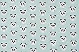 F-DOMOTEX S.A.S Jersey-Stoff Panda 150 cm breit (Meterware)