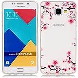 Pour Samsung Galaxy A5(2016)SM-A510F Coque,Ecoway Housse étui en TPU Silicone Shell Housse Coque étui Case Cover Cuir Etui Housse de Protection Coque Étui Samsung Galaxy A5(2016)SM-A510F –XS prune fleur