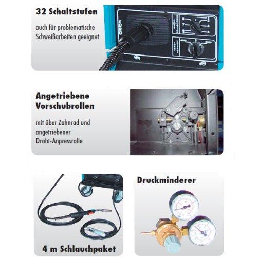 Güde Schutzgas Schweißgerät MIG 190 Kombi/A inkl. Draht & Helm - 2
