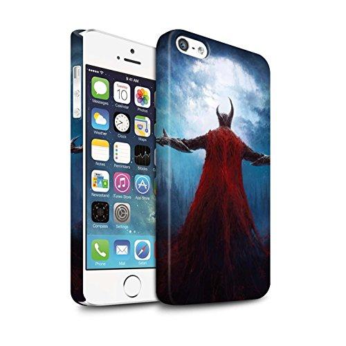 Offiziell Chris Cold Hülle / Matte Snap-On Case für Apple iPhone SE / Dramargu/Vollmond Muster / Dämonisches Tier Kollektion Dunkelste Stunde