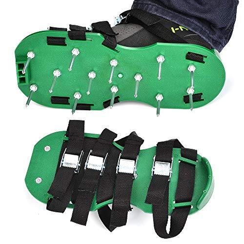 Timesetl scarpe da giardino prato 8 cinghie regolabili pp per prato con unghie da 5cm per giardino