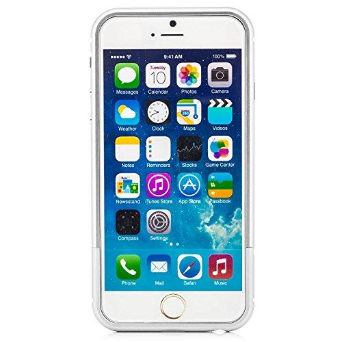 Coque aluminium iPhone 5 5S SE [Saxonia] Case Métal Housse Bumper rigide Ultra-mince Rose Gold (Or) Argent + 2x Verre trempé