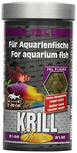 JBL Krill 40582 Premium Alleinfutter für alle Aquarienfische, Flocken 250 ml