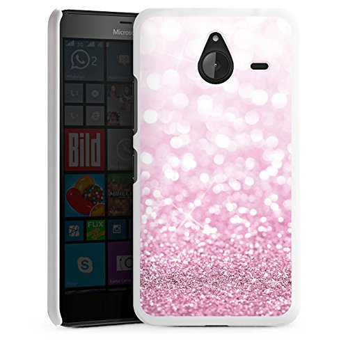 microsoft-lumia-640-xl-hulle-schutz-hard-case-cover-glitzer-look-pink-glanz