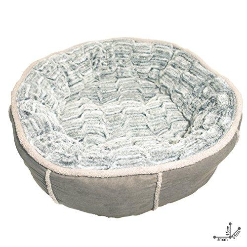 Rosewood Panier Profond en Forme de Beignet pour chien, Gris, 50 cm