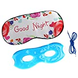 MagiDeal Pure Silk Sleep Eye Mask Gel Cover Eyeshade Cold Hot Compress for Travel Home Office Men Women - Goodnight, as described