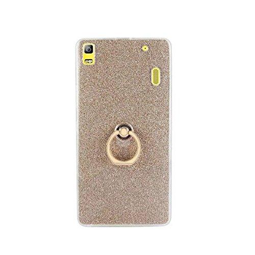 Soft Flexible TPU Back Cover Case Shockproof Schutzhülle mit Bling Glitter Sparkles und Kickstand für Lenovo K3 Hinweis ( Color : Blue ) Gold