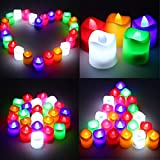SHOPEE BRANDED Multicoloured Battery Operated Led Tealight PLASTIC Candles FOR Diwali Gifts Home Decor/ Wedding/ Birthday/ Festivals / Anniversary / All Purpose - Set Of 12 Pcs (Battery Included)