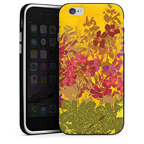 Apple iPhone X Silikon Hülle Case Schutzhülle Sonnig Blumen Muster Silikon Case schwarz / weiß