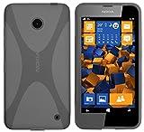 mumbi X-TPU Schutzhülle für Nokia Lumia 630/635 Hülle transparent schwarz