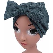 870125d2ed5d AmazingDays Enfants bébé filles Boho Hat Bonnet écharpe Turban Head Wrap Cap
