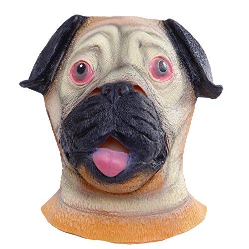 opf Tier Cosplay Maskerade Kostüm Karneval Maske Hahn Taube Hund (Shar-Pei) (Shar Pei Halloween Kostüme)