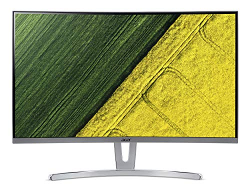 Acer ED273URPbidpx 69 cm (27 Zoll) Multimedia Curved Monitor (DVI, HDMI, 4ms Reaktionszeit, WQHD, DisplayPort, 2.560 x 1.440 Pixel, 144hz, ZeroFrame Design, Audio Out) schwarz/rot