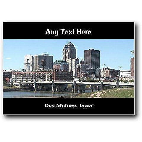 America USA Des Moines, Iowa-Targa da parete in acrilico, misura media