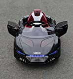 KalCo Audi Style 12v Ride On Car - Opening doors - Working Lights - Unique Exclusive Model - 2015 Model - Twin Motor - 12v Two Speed - With Parental Remote Control -Black 12v