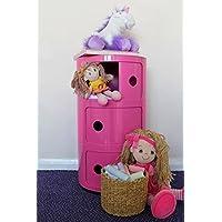 Preisvergleich für Home Essentials Inc Kinder Schublade Hygena Einheit Schlafzimmer 3Ebenen Regalboden Zylinder Spielzeug Tower