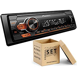 Pioneer-MVH-S110UI-1-DIN-Autoradio-mit-USB-AUX-Shortbody-fr-Skoda-Fabia-II-2007-2014