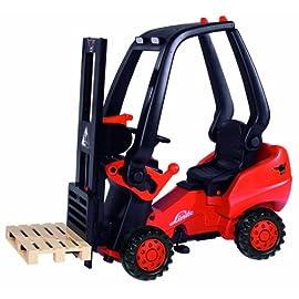 BIG Gabelstapler Tretauto LINDE Forklift rot