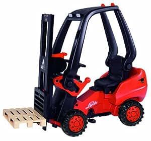 BIG 800056580 – Linde Forklift Kindergabelstapler, rot