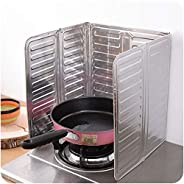 Rubik Oil Splash Guard Cooking, Aluminum Foil Gas Stove Oil Splatter Shield Screen For Stove Top, Frying Pan,