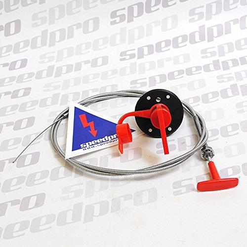 Preisvergleich Produktbild Set FIA Batterietrennschalter 2-polig, Bowdenzug, Aufkleber, Not-Aus Natoknochen