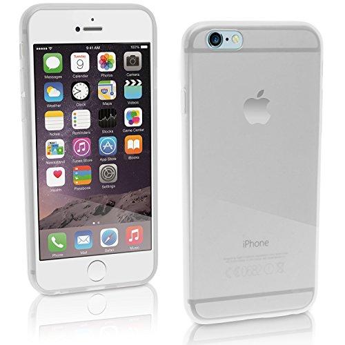 igadgitz Solides Schwarz Glänzend Etui Tasche Hülle Gel TPU für Apple iPhone 7 & 8 4.7 Zoll Case Cover + DisplayschutzDolie Klar