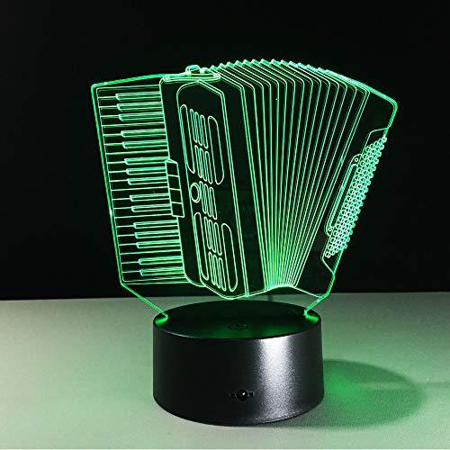 Hysxm Orgel Akkordeon Musik 7 Farben Ändern Innovative 3D Led Nachtlicht Berührungsempfindliche Lampe Geschenke Usb Lampe Lava Lampe