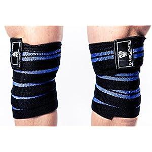 Urban Lifters Knee Wraps – Knie Bandagen für Kraftsport – Kniebandagen – 200cm Bodybuilding Weightlifting, Crossfit, Powerlifting, Fitness [2er Set mit Klettverschluss]