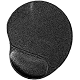 Gembird MP-GEL-BLACK - Alfombrilla de ratón con reposamuñecas