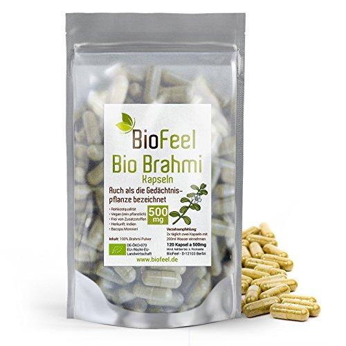 Ayurveda-kräuter-heilmittel (BioFeel - BIO Brahmi Kapseln, 120 Stk., 500mg - Bacopa Monnieri - Ayurveda)
