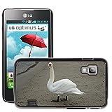 Just Mobile per Hot Stile Telefono Portatile PC Cover rigida//m00140303Cigno Spiaggia Mare Sabbia di Uccelli la Costa//LG Optimus L5II Dual E455/E460
