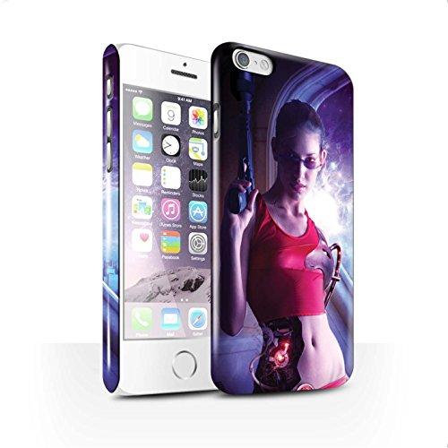 Officiel Elena Dudina Coque / Clipser Brillant Etui pour Apple iPhone 6 / Pack 9pcs Design / Super Héroïne Collection Cyborg