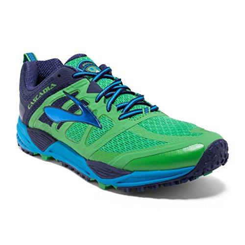 Brooks Cascadia 11, Chaussures de Trail Homme 1D363 GREEN/ECLIPSE/METHYL B