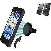 Coche universal del teléfono móvil / GPS / navegación titular del dispositivo por ejemplo, para Caterpillar Cat S60 ventilación Holder soporte de rejilla soporte para teléfono magnética Caterpillar Cat S60 Mini Car Air Vent titular Smartphone magnético. Fácil de instalar soporte magnético compacto para el coche. Sostiene a prueba de bombas y libre. Se puede utilizar con todos los teléfonos inteligentes. Por ejemplo, con la Caterpillar Cat S60 mano operable.