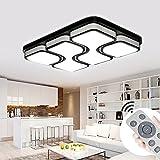 MYHOO 100W LED Deckenleuchte Dimmbar Deckenlampe Modern Design Schlafzimmer Küche Flur Wohnzimmer Lampe Wandleuchte Energie Sparen Licht [Energieklasse A++]