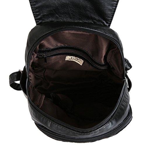 21KBARCELONA Cuoio lavato di alta qualità zaino borsa XS160433 Nero