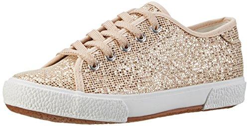 Tamaris 23610, Sneakers Basses femme - Multicolore (LT.GOLD GLAM 979), 38 EU