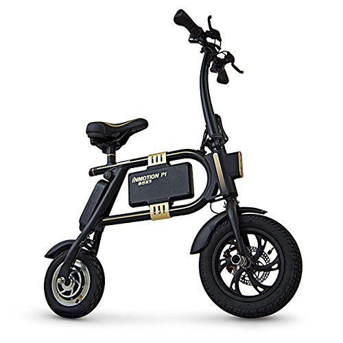 InMotion Unisex-Adult P1F Mini-Scooter, schwarz/Gold, 900 x 650 x 200 mm
