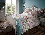 Polycotton-Bettbezug Sets bedruckt Vintage Stil neue weiche Betten, Free Spirit Multi, King Size