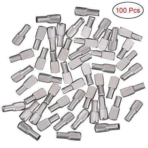 Electrely 100 Piezas de Alfileres para Estantes, 5 mm, Soporte para Estantes,...