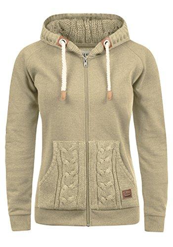 DESIRES Matilda Damen Sweatjacke Kapuzen-Jacke ZIp-Hoodie aus hochwertiger Baumwollmischung, Größe:XXL, Farbe:Dune Melange (8409)