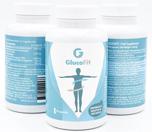 GLUCOFIT- Diätpillen 100% Natürliches Gewichtsabnahme-Supplement | Nicht stimulierend| Gewicht abnehmen, Fett verbrennen, reduzierte Wassereinlagerung, Stoffwechsel ankurbeln und erhöhte Energie für Männer & Frauen