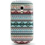 CaseiLike � indien 2023 hybride bande Tribal th�me Pattern, Snap-on dur retour housse pour Samsung Galaxy S3 mini i8190 avec protecteur d'�cran