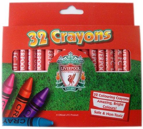 Official LIVERPOOL FC 32 Crayons / 32 FARBE Wachsmalstift gesetzt