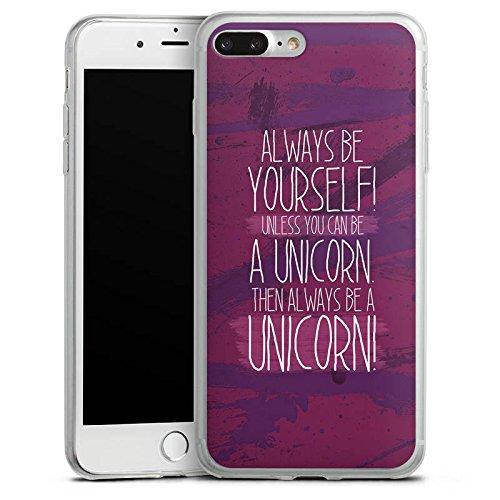 Apple iPhone 8 Plus Slim Case Silikon Hülle Schutzhülle Einhorn Unicorn Lustig Silikon Slim Case transparent